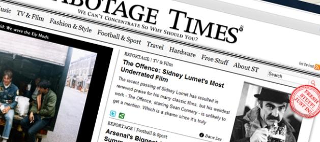 Sabotage Times header