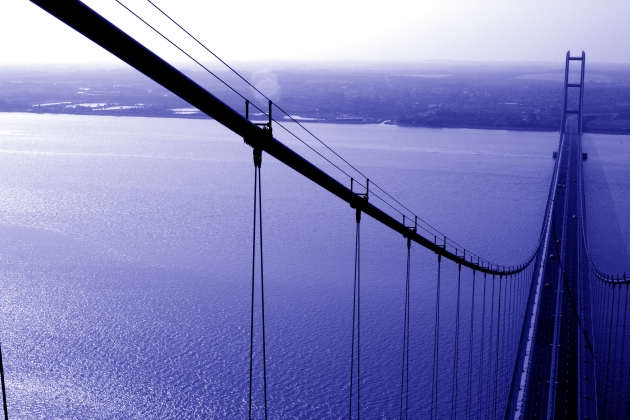 Humber Bridge from the top of the North tower
